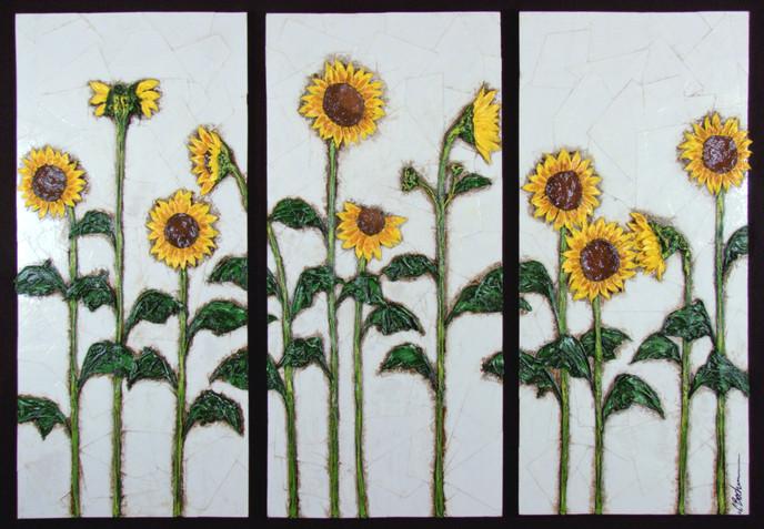Sunflowers (tryptic)