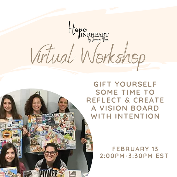 Creating a vision board with intention (