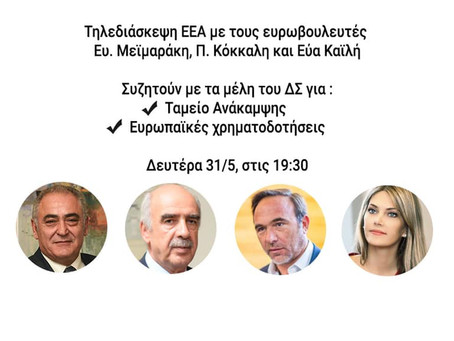 Τηλεδιάσκεψη ΕΕΑ για το Ταμείο Ανάκαμψης και Ανθεκτικότητας και τις ευρωπαϊκές χρηματοδοτήσεις