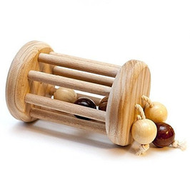 _Classic Rolling Baby Rattle - Wood Toy