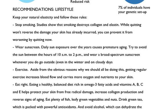 Skin Elasticity test 3 Genetic Analysis