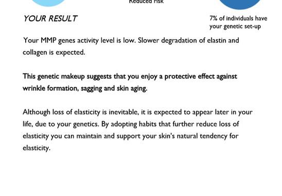 Skin Elasticity test 2 Genetic Analysis