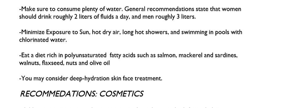 Skin Hydration Test Genetic Analysis