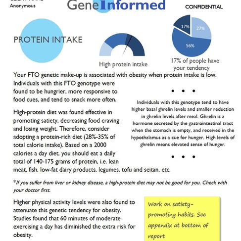 Satiety and proteins- DNA diet