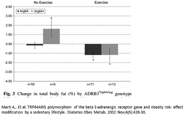 Lifestyle intervention for weight loss among individuals with a genetic risk for obesity