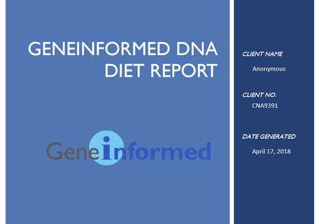 Geneinformed DNA diet report