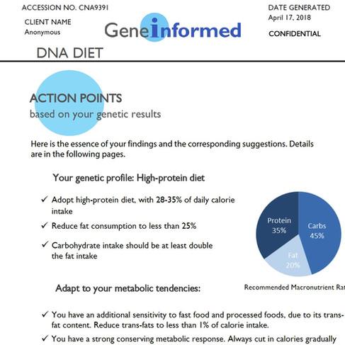 Quick overview- DNA diet