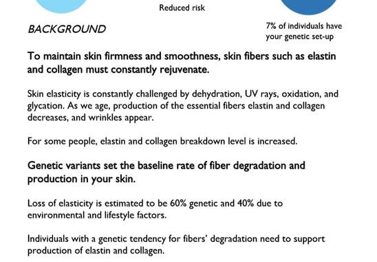 Skin Elasticity test Genetic Analysis