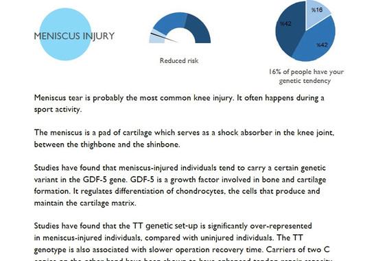 Meniscus knee injury risk