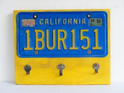 key hanger california plate