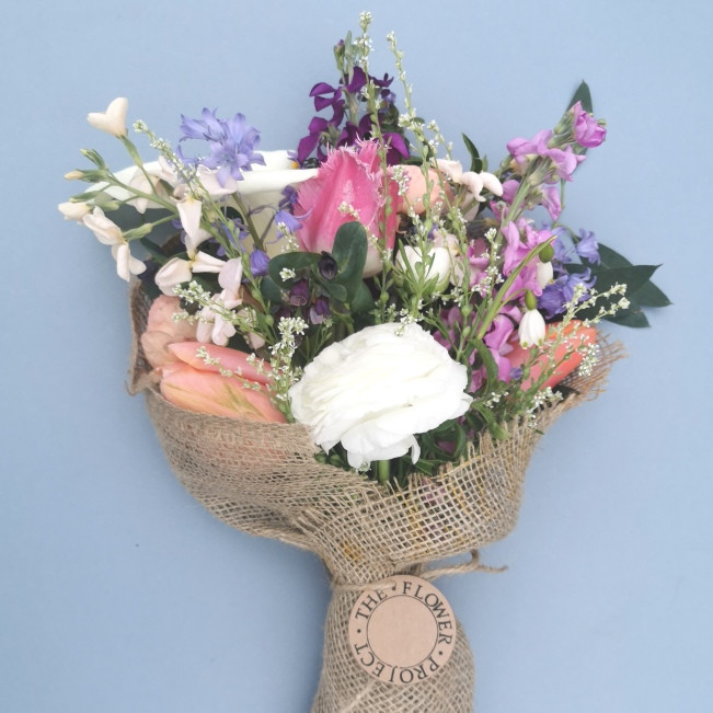 Bouquet is 100% British flowers and foliage