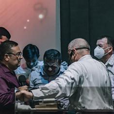 Leaders Praying over Ps Juan Carlos