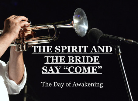 """THE SPIRIT AND THE BRIDE SAY """"COME"""" - A Day of Awakening - by Pastors Paul & Gwen Hanssen"""
