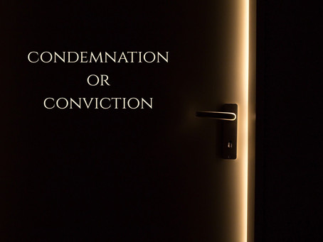 The Difference between CONDEMNATION AND CONVICTION