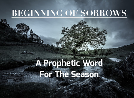 THE BEGINNING OF SORROWS - A Prophetic Word.              by Paul M Hanssen