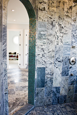 mbath shower facing closet