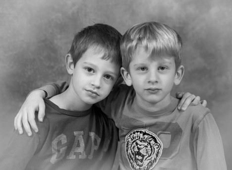 timeless black and white portraits brothers