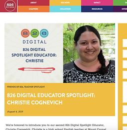 826 National Educator Spotlight- August 2019