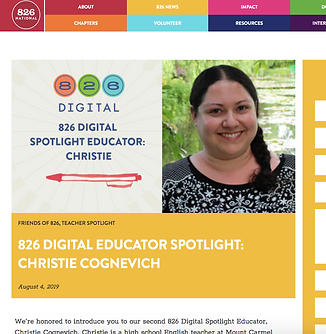 826 National Educator Spotlight- August 2019