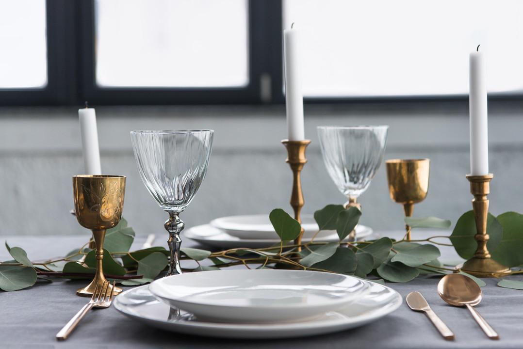 Rustikale Tischkultur