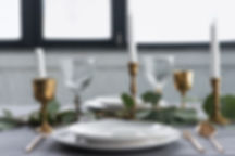 Rustic formal Table setting with candles