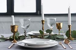 Impostazione della tavola rustica