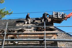 chantier toiture