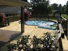 deck around the pool