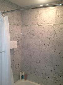 tile shower bath remodel