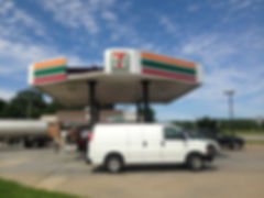 Mid Atlantic Petroleum often calls BEEZ Construction to help with their workload. And damaged canopies.. a perfect job for BEEZ Construction!