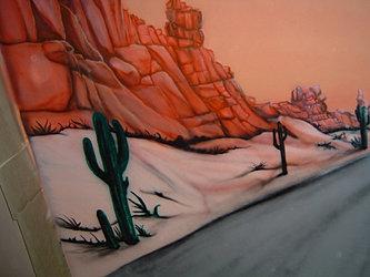 Air Art Studio Airbrushing Murals Arizona Bikes Ceiling