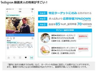 ブルーオーシャン☆インスタ動画広告の求人効果がすごい!