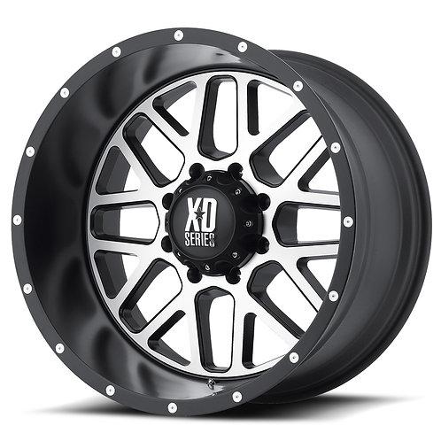 XD Grenade 20X12 8X6.5 Satin Black W/Milled Face