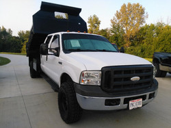 2006 ford f350 dump right front