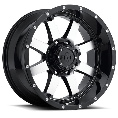 Gear Big Block 20X12 8X6.5 Black W/Miled Face