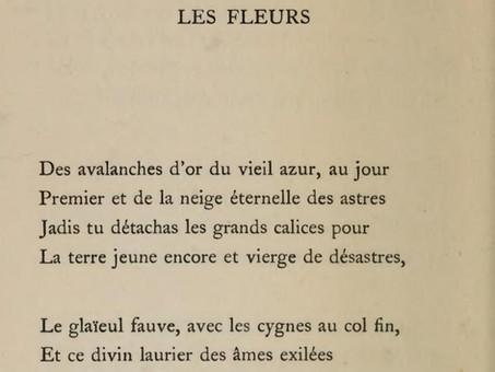 """""""Les Fleurs"""", par Stéphane Mallarmé"""