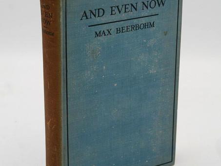 """""""Something Defeasible"""", by Max Beerbohm"""