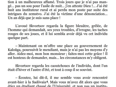 """""""Le Mendiant"""", par Anton Tchekhov"""