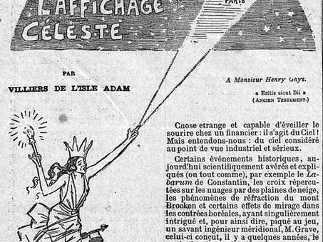 """""""L'affichage céleste"""", par Villiers de L'Isle-Adam"""