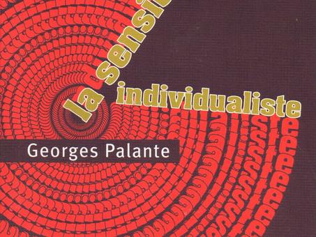 La sensibilité individualiste, par Georges Palante