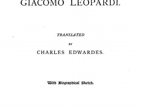 """""""The Dialogue Between an Almanac Seller and a Passer-By"""", by Giacomo Leopardi"""