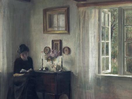 """Women reading"", by Carl Vilhelm Holsøe"