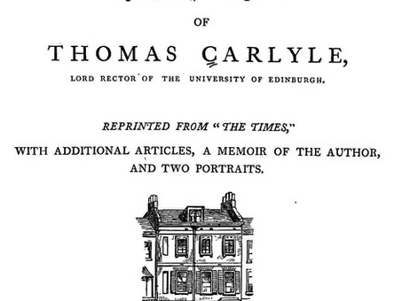 Thomas Carlyle: On the Choice of Books