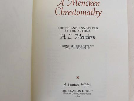 """""""Meditation on Meditation"""", by H.L. Mencken"""