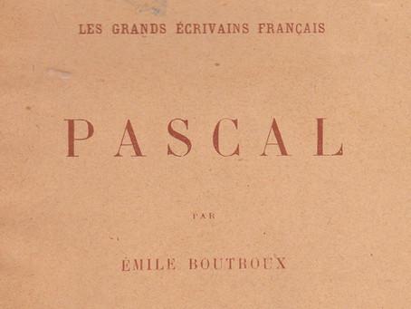 Enfance et Jeunesse de Blaise Pascal, par Emile Boutroux