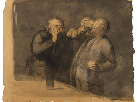 Honoré Daumier: The Drinkers