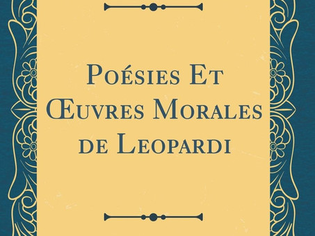 """""""Dialogue du Passant et du Marchand d'almanachs"""", par Giacomo Leopardi"""