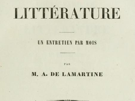 Une composition d'enfance, par Alphonse de Lamartine