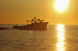 Sunrise And Lobster Boat