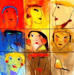 9 faces.